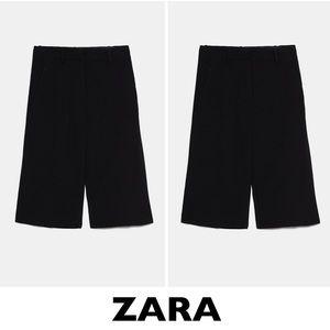 Zara Black Long Bermuda Shorts Size Small